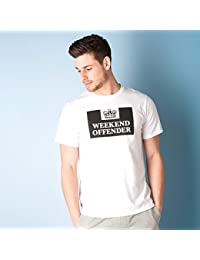 Weekend Offender Mens Prison T-Shirt In White