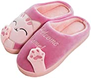 Women's & Men's Comfort Memory Foam Slippers Breathable Fuzzy Slip on Clog House Shoes w/Indoor Ou