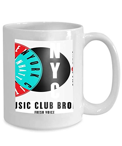 Kaffee Tee Becher Tasse NYC New York Musik Plakat Lager de NYC New York Musik Plakat Lager Design 110z - Nyc-kaffee-tasse