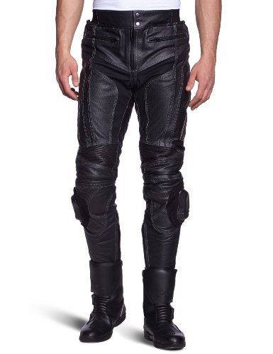 Protectwear Moto - pantaloni di pelle nera WMT-401, taglia 50 / M