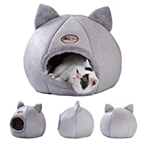 Cat House Pet Warmer Comfortable Soft Dog Bed Cat House Semi-enclosed