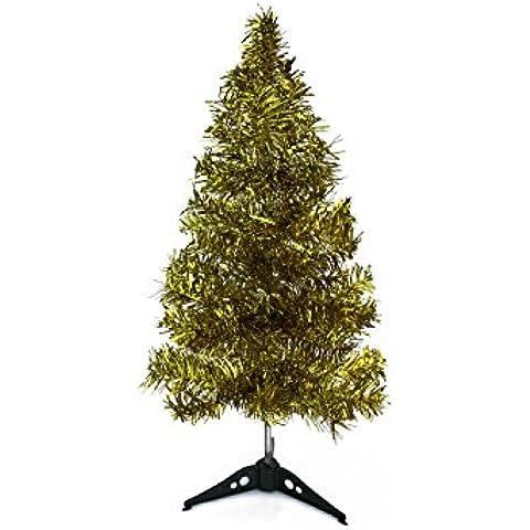 Árbol de Navidad árbol navideño artificial abeto JAZZY WONDERLAND en 5 tamaños y 5 alegres colores, Color: Golden Glow 60 cm (50