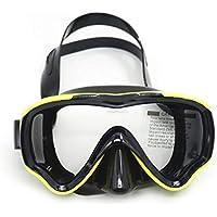AM-100J Niños Kid Sola Capa Impermeable Antiniebla Máscara de Buceo de Silicona Wide Field Vision Gafas de Buceo Equipo de Natación - Amarillo
