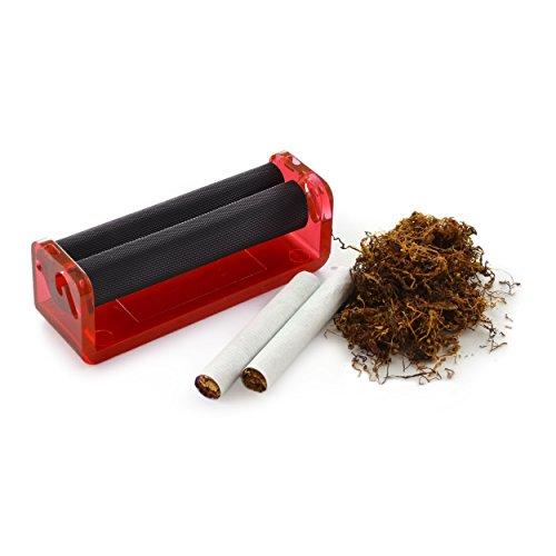 Zigarettendrehmaschine für Drehtabak, Zigarettenroller, Zigarettenwickler, Zigarettendreher, Drehzigaretten Wickler, Dreher, Tabak, Farbe rot, Marke Ganzoo