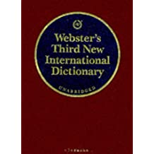 Webster's Third New International Dictionary of the English Language. Unabridged