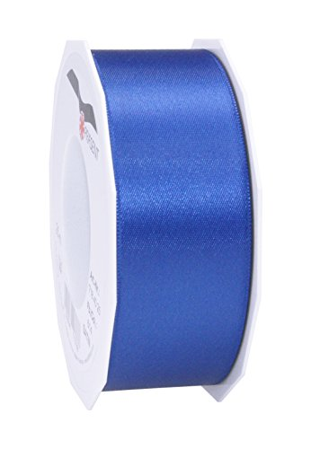 Prasent 40 mm x 25 m, Satin-Band-Rolle, Doppelseitig, Blau -