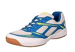 Nivia New Super-Court Badminton Shoes-7��(White, Blue)