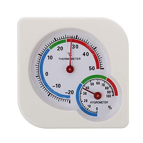 Robluee Thermometer Hygrometer, analog, hohe Präzision, A7, Thermo-Hygrometer, System innen und außen, Industrie-Industrie, Landwirtschaft 75 x 13 mm