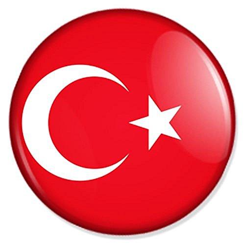 Flagge Türkei Button, Badge, Anstecker, Anstecknadel, Ansteckpin