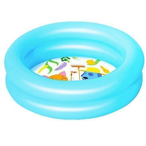 Bestway Gonfiabile Bambini Colorato Piscina Per Bambini Bambini Acqua Attività Divertente Gioco - Blu, 2 anelli - 61 x 15 cm