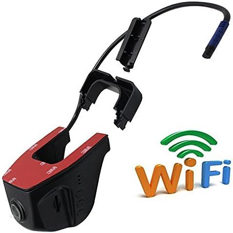 Anstar Full HD 1080P Wide Angle Novatek 96655 Mini Hidden WIFI APP Support IOS & Android System Car DVR Auto Dash Camera Video Registrator Recorder Free 16GB TF Card - Parcheggio Lamp Assembly