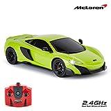 CMJ RC Cars TM McLaren 675LT Voiture télécommandée, à échelle 1:18, sous licence officielle, phare de travail 2,4 GHz, vert