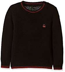 United Colors of Benetton Boys Sweater (16A1032C1319G100EL_Black)