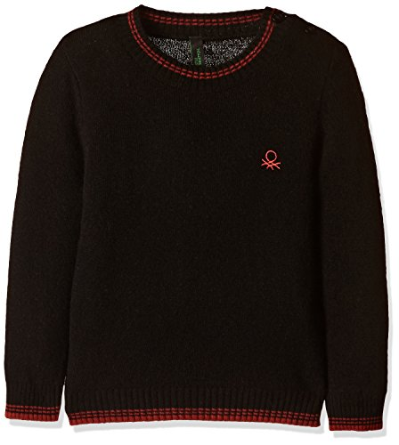 United Colors of Benetton Baby Boys' Knitwear (16A1032C1319G1000Y_Black)