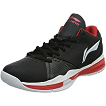 Li-Ning Zapatillas de Baloncesto de Material Sintético Para Hombre Negro Negro, Color Negro, Talla 43 EU