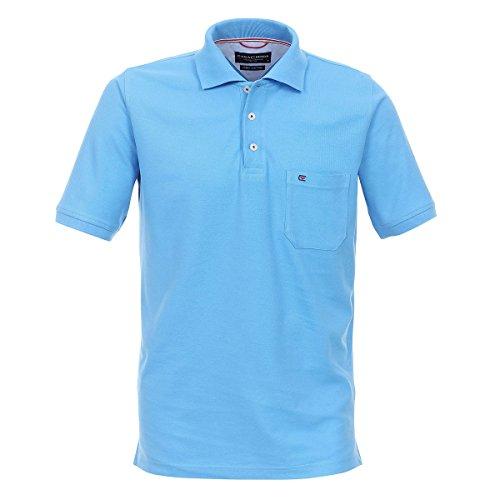 Casa Moda Piqué Poloshirt hellblau Übergröße Blau