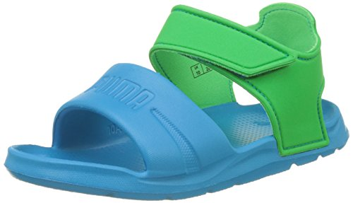 Puma Unisex-Kinder Wild Sandal Injex PS Low-Top, Blau (Blue Danube-Andean Toucan 01), 29 EU