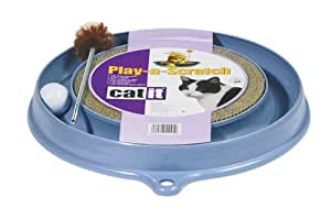 Catit - Play-n-Scratch / 51092 - Plateforme de jeu - Bleu/blanc