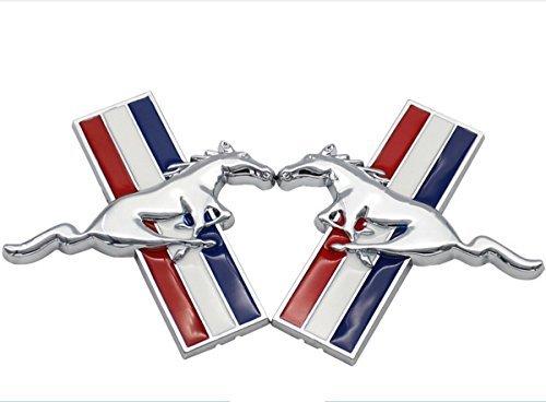 tazimall 3D Metall Auto Seite Emblem Logo Mark Aufkleber Badge für Ford Mustang Running Wild Horse Aufkleber Set von 2 One Size Merhfarbig -