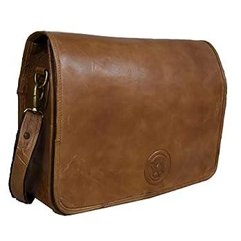 Adwaita 18 in Genuine Leather Vintage look Messenger bag for Men(Version -2.0)