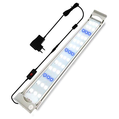GOOBAT Iluminación LED para Acuarios, Lampara de LED para 45-50cm Acuarios, 13,5W
