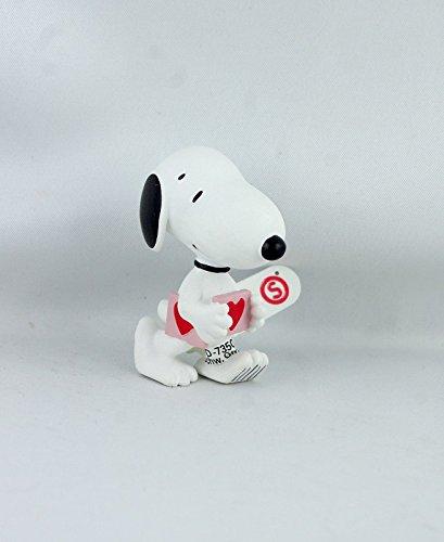 Snoopy Holding a Heart Miniature Figurine