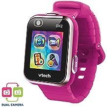 VTech Kidizoom Smart Watch DX2 - Reloj inteligente para niños con doble cámara, color Frambuesa