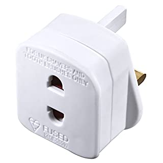 Masterplug Electric Shaver Adaptor, 50 x 48 x 46 mm, White