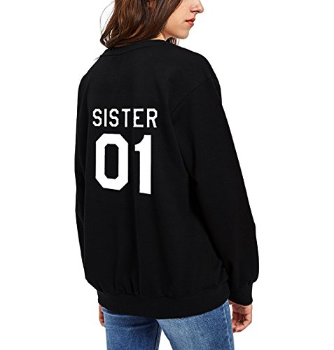 Beste Freunde Sweatshirt Cotton Teen Girls Hoodie cute Pullover Brief gedruckte Partner mit