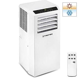 TROTEC Aire Acondicionado Portátil Pac 2010 SH / 4 en 1: Refrigeración, Calefacción, Ventilación y Deshumidificación/Mando a Distancia/Calefacción regulada por Termostato/hasta 26m² / Blanco