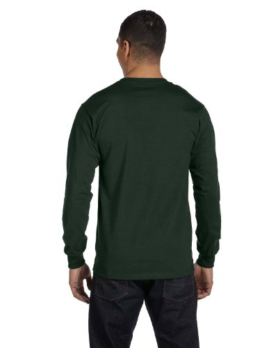 Hanes Tagless Long-Sleeve T-Shirt 1 Ash + 1 Deep Forest
