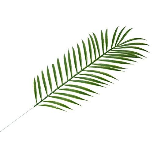 Nordische Kiefer Ast Coconut Palm Leaf Party Dekorationen Kunstpflanze Palm Blätter Hawaiian Luau Jungle Beach Thema Party Dekor Blogger Foto Prop, plastik, 3#, Einheitsgröße -
