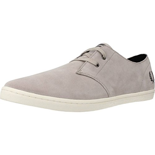 Fred Perry Byron Low Suede 1964 Silver Charcoal B7401929, Basket Gris