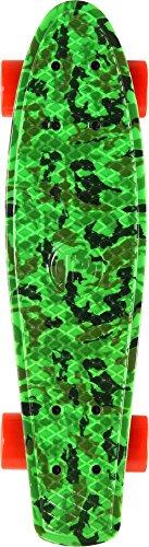 Prohibition Retro Plastic Pattern Skate, Green Camo, 28 (Wheels Skateboard Camo)