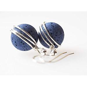 Ohrringe blau Polarisohrringe