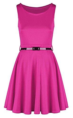 Generic Damen Skaterkleid Kleid mehrfarbig mehrfarbig 54 Fuchsia