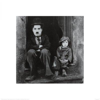 Reproduction d'art 'Charlie Chaplin dans le Kid', Taille: 40 x