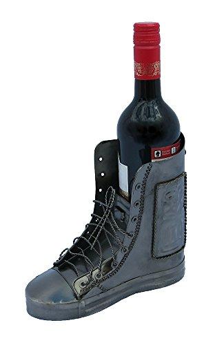 Decoline Metall Flaschenhalter Schuh 21 x 18,5cm (Wein-schuh-halterung)