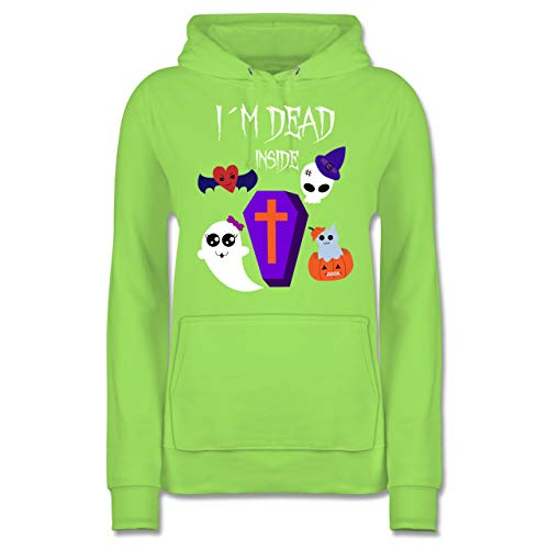 Halloween - I'm Dead Inside - XS - Limonengrün - JH001F - Damen Hoodie