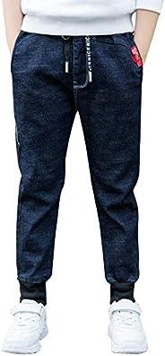 LAPLBEKE Bambino Jeans Bambini e Ragazzi Denim Pantaloni Stretch Pantalone Primavera Autunno Casual Elastico i