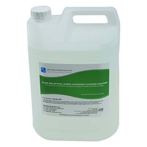 Ultrasonic Cleaning Fluid Glass Optical Lenses 5L Concentrate Solution UK