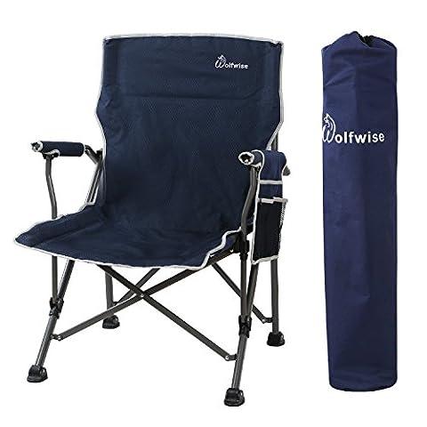 Siege De Camping Pliable - WolfWise Chaise de Camping pliante, Assise Large,