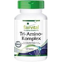 Tri-Amino-Komplex - für 1 Monat - VEGAN - HOCHDOSIERT - 120 Tabletten - Arginin Ornithin Lysin - Aminosäuren preisvergleich bei billige-tabletten.eu