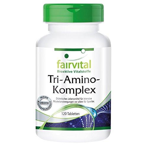 Tri-Amino-Komplex - HOCHDOSIERT - VEGAN - 120 Tabletten - Arginin Ornithin Lysin - Aminosäuren