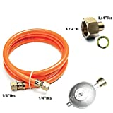 Gasschlauch Druckminderer Set 150cm/ 50mbar + Übergang 1/2