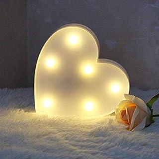 XIYUNTE LED Herz Form Nachtlicht – Herz Wand Home Decor Warm Weiß innen Beleuchtung Festzelt Ligths batteriebetrieben Bett und Tisch Lampen Night Lights für Wohnzimmer, Weihnachten, Party, Mädchen Schlafzimmer Art Deco Samll Heart White