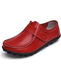 Yooeen Zapatos Mocasines Cómodos para Mujer Calzado de Trabajo Antideslizante Velcro Loafers Zapatos de Conducción