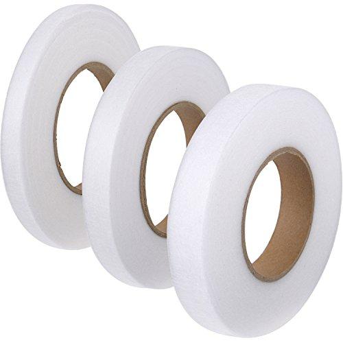3 Stück 70 Yard Stoff Bügelband Hem Tape Klebstoff Iron-on Hemming Tape Rolle 10 mm, 15 mm, 20 mm Wide für Kleidung