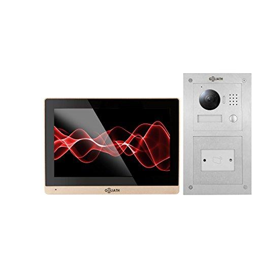 Goliath IP Türsprechanlage mit Kamera, Unterputz RFID Türstation, Edelstahl, HD Kamera, App,...