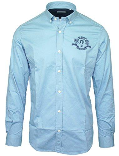 Serge Blanco-Camicia Oxford Serge Blanco Blu blu XL